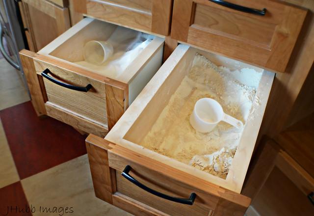 Built In Flour Sugar Drawers Craftsman Kitchen Other Metro By Northwest Design House
