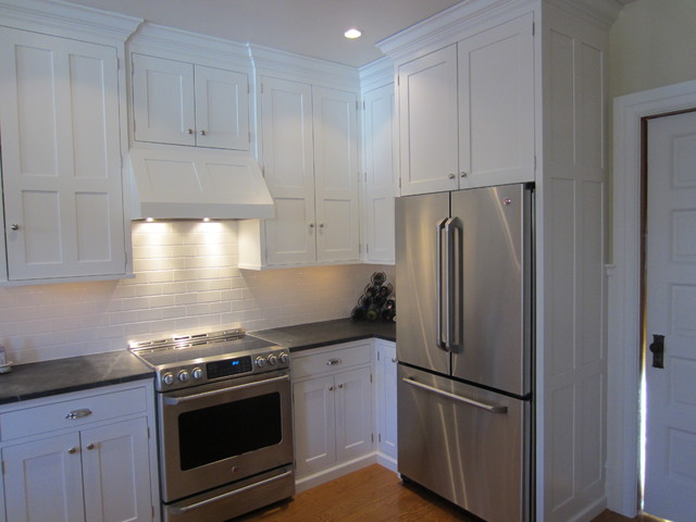 Built-in free standing refrigerator - Traditional - Kitchen - Philadelphia - by Kevin Martin