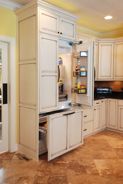Built In Fridge Freezer Traditional Kitchen Other
