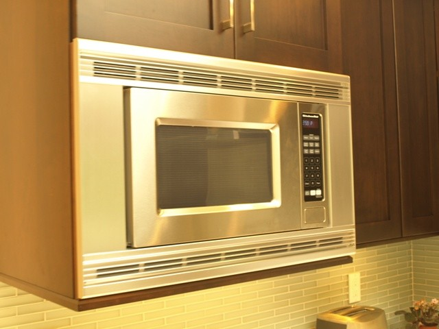 kitchenaid microwave built in with trim kit - transitional