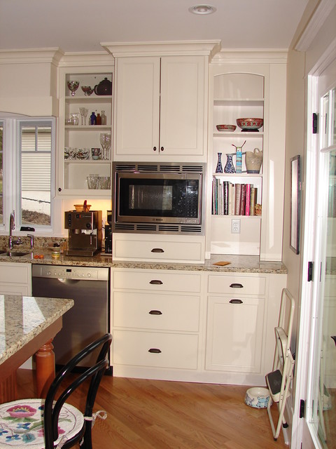 Recipes range hood with microwave oven