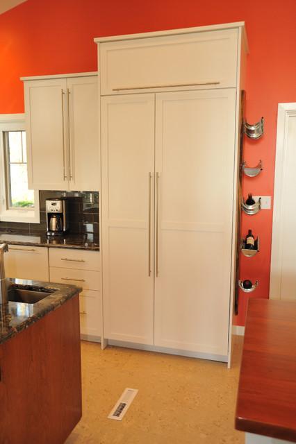 Built-in refrigerator contemporary-kitchen