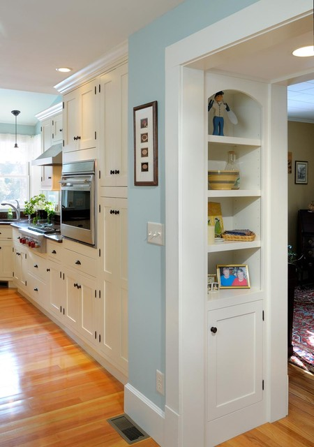 Built in storage between dining and kitchen traditional-kitchen
