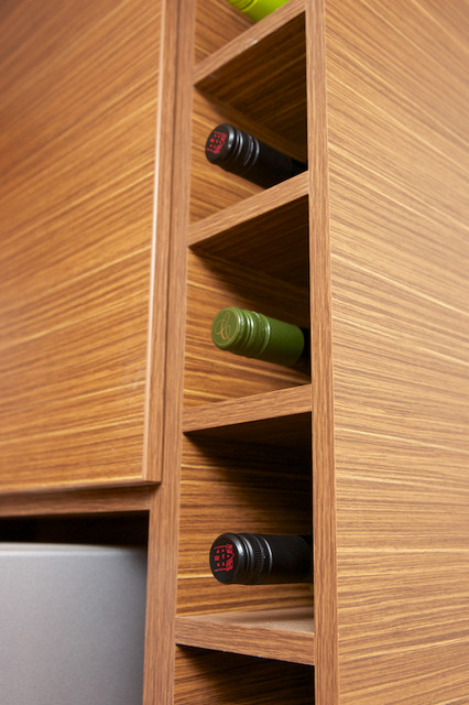Built In Wine Rack Contemporary Kitchen Ottawa By