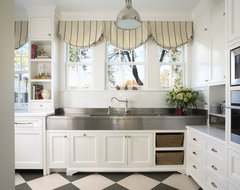 Bulter's Pantry with German Silver Sink traditional-kitchen