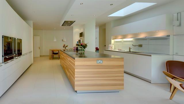 Bulthaup Cocinas | Bulthaup B3 Kitchen Applewood Veneer Island Moderno Cocina