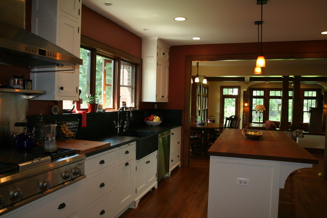 Bungalow Renovation and addition - Traditional - Kitchen - Chicago ...