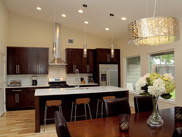 Burney Contemporary Kitchen austin by Moazami Homes