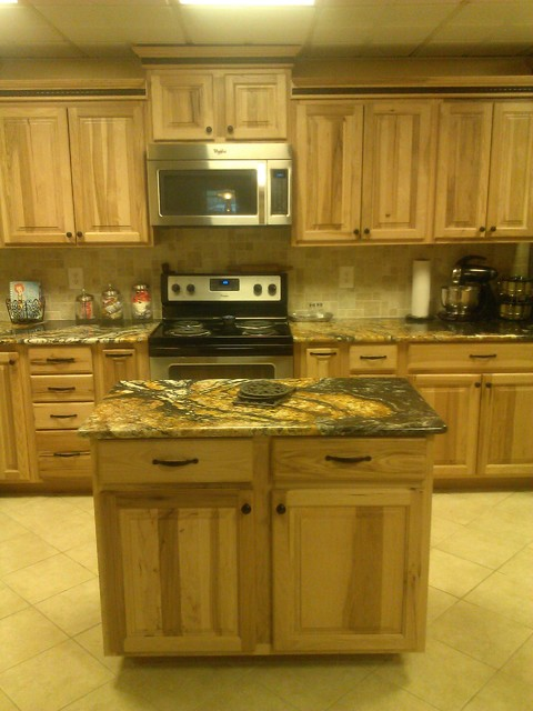 Burns kitchen - Hickory Natural - Orinoco Granite - Rustic - Kitchen ...