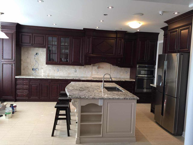 Burnt Walnut color in Markham Kennedy/16th - Transitional - Kitchen - toronto - by Neo Kitchen