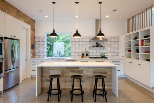 Houzz Wood Warms These Kitchens