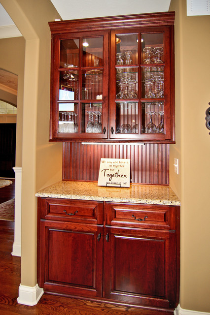 Butler Pantry With Granite Countertops Traditional
