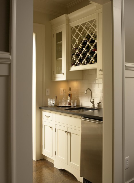 Butlers Pantry with desk - Traditional - Kitchen - atlanta - by Pittam Associates, Inc.
