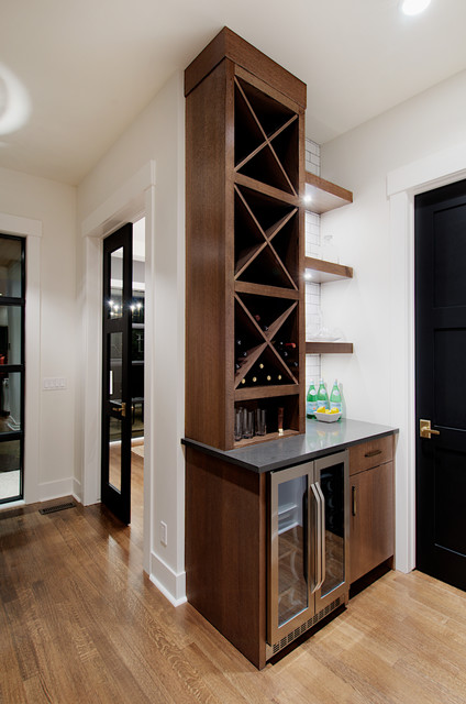 Butlers Pantry With Large Walk In Pantry Contemporary