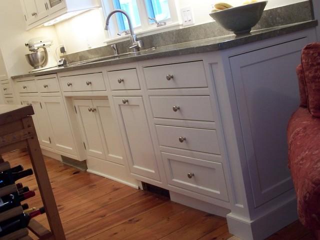 Buttercream galley kitchen traditional-kitchen
