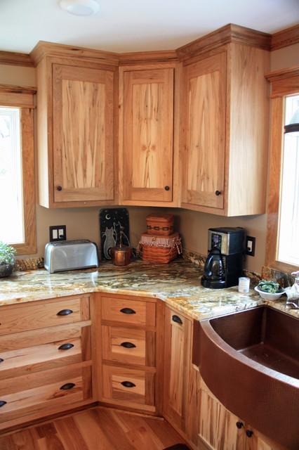 Butternut and ambrosia maple kitchen rustic kitchen for Butternut kitchen cabinets