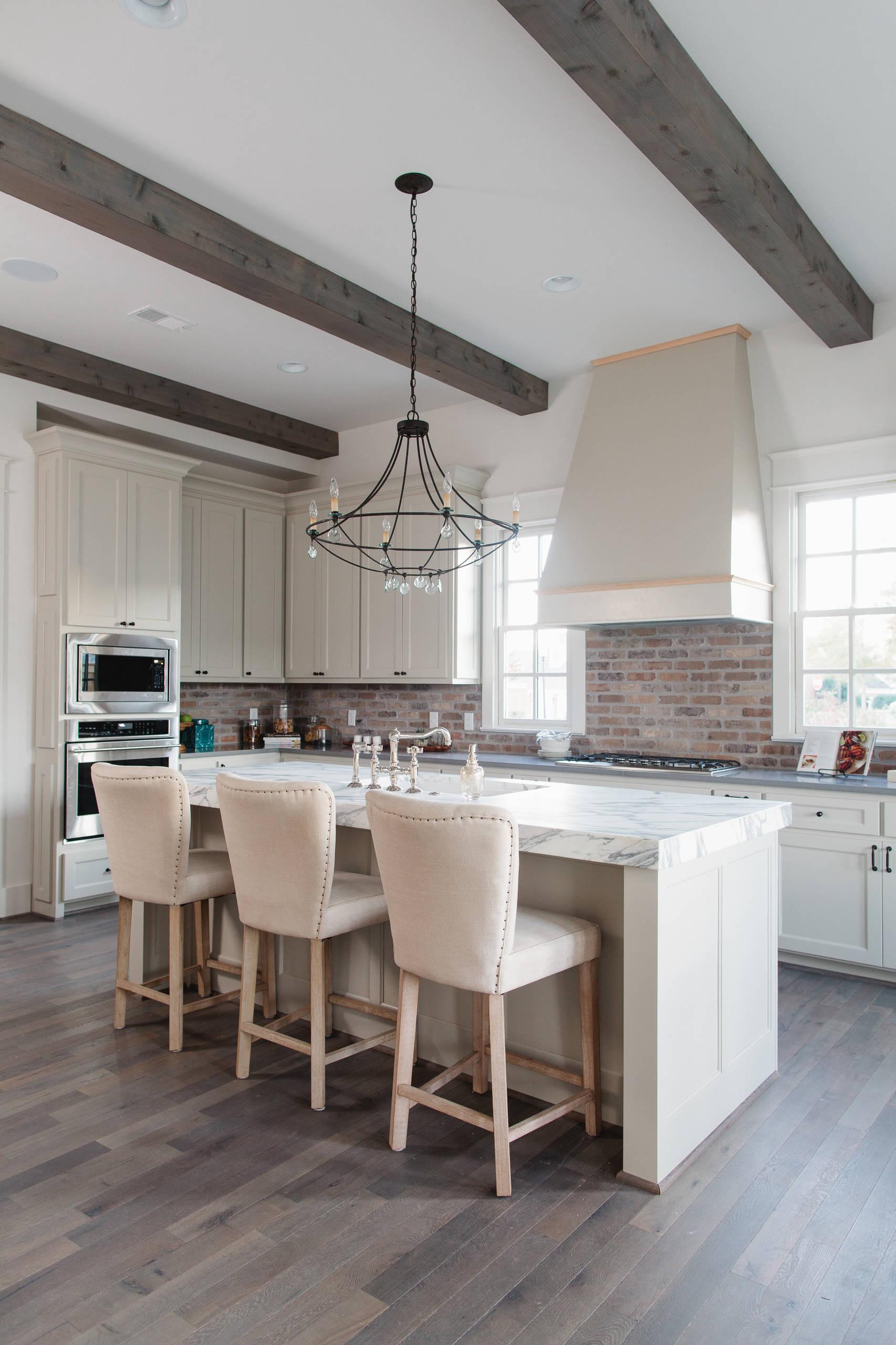 - 75 Beautiful White Kitchen With Brick Backsplash Pictures & Ideas