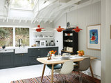midcentury kitchen Houzz Tour: In Ireland, a Light and Airy Lakeside Cabin (19 photos)