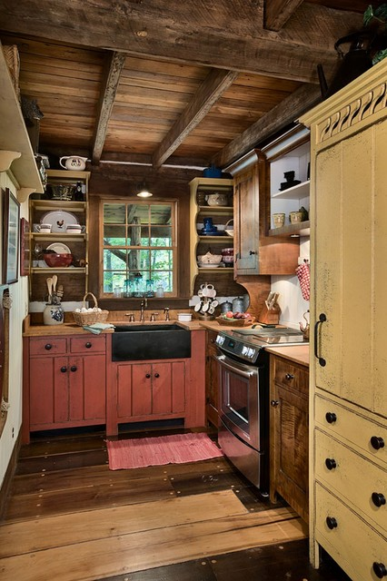 Cabin Renovation - Architect, Jan Paul Donelson - Rustic - Kitchen - Louisville - by Timberland ...