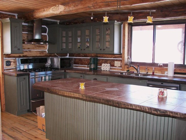 Cabin Renovation traditional-kitchen