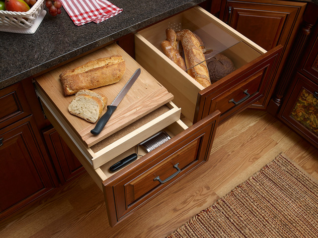 cabinet features traditional kitchen new york by