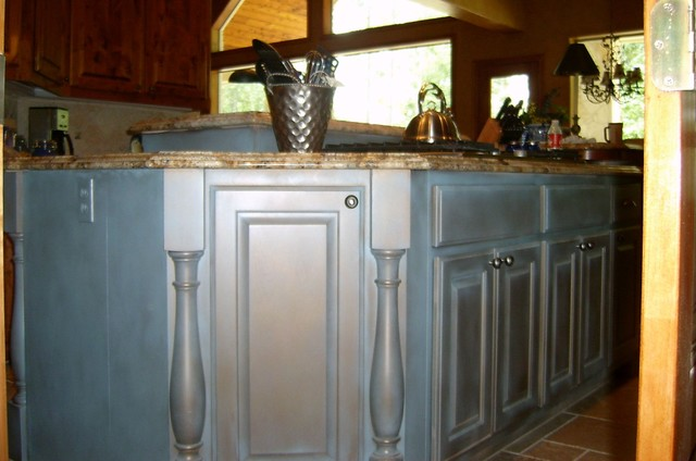Cabinet finishes eclectic-kitchen