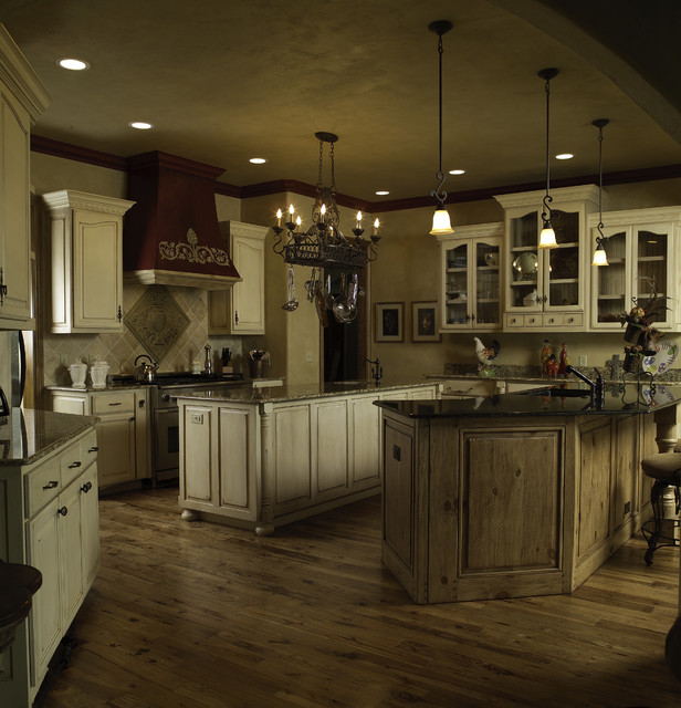 Cabinet Mix Traditional Kitchen Oklahoma City By
