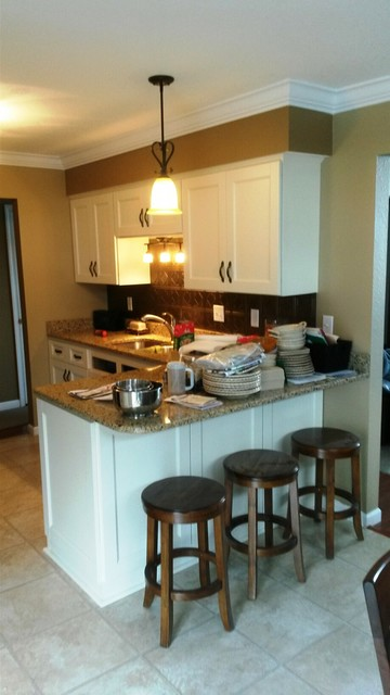 Cabinet Refacing done in Bisque - Modern - Kitchen - other metro - by Kitchen Solvers of Toledo