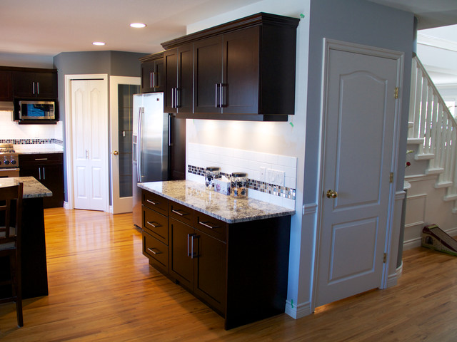 Cabinet Refacing done in Cherry Veneer - Contemporary - Kitchen - vancouver - by Kitchen Solvers ...