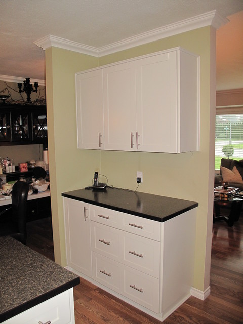 Cabinet Refacing done in Featherdown Painted Maple - Traditional - Kitchen - vancouver - by ...
