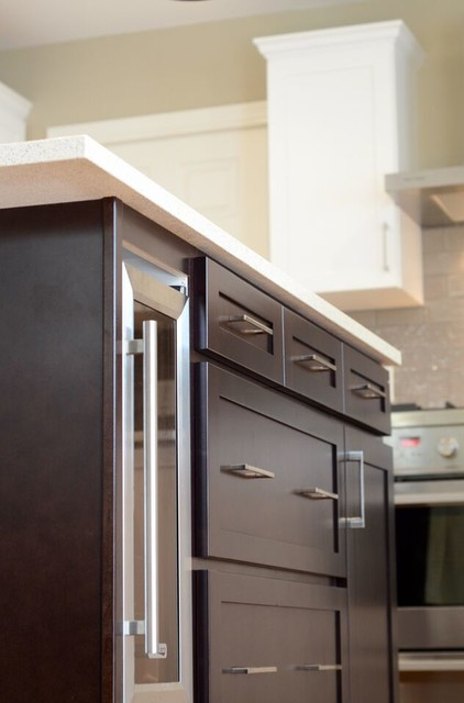 Kitchen solvers of greater vancouver kitchen bathroom fitters - Cabinet Refacing Done In Maple With A Satin White Finish