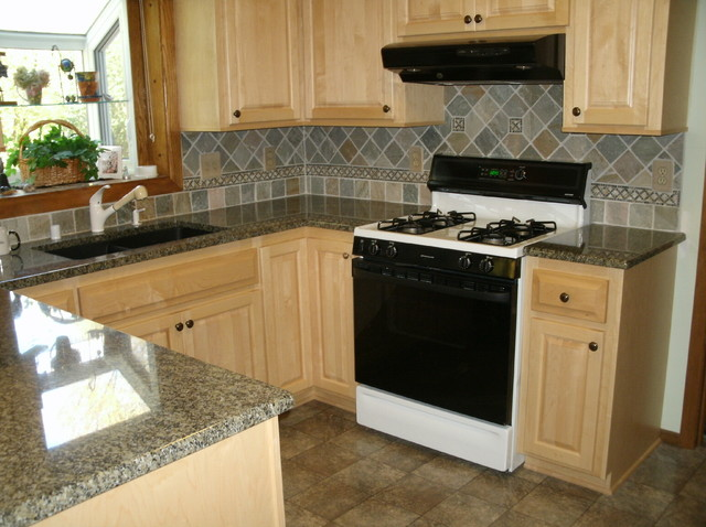 Cabinet Refacing done in Maple with Flat panel doors - Traditional - Kitchen - Milwaukee - by ...