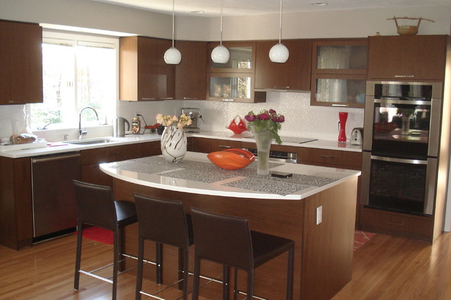 Cabinet Refacing Plus - Contemporary - Kitchen - boston - by Kitchen Tune-Up - Newton, MA