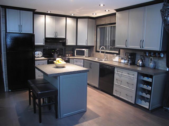 Cabinet Refacing Modern Kitchen Edmonton By Reface