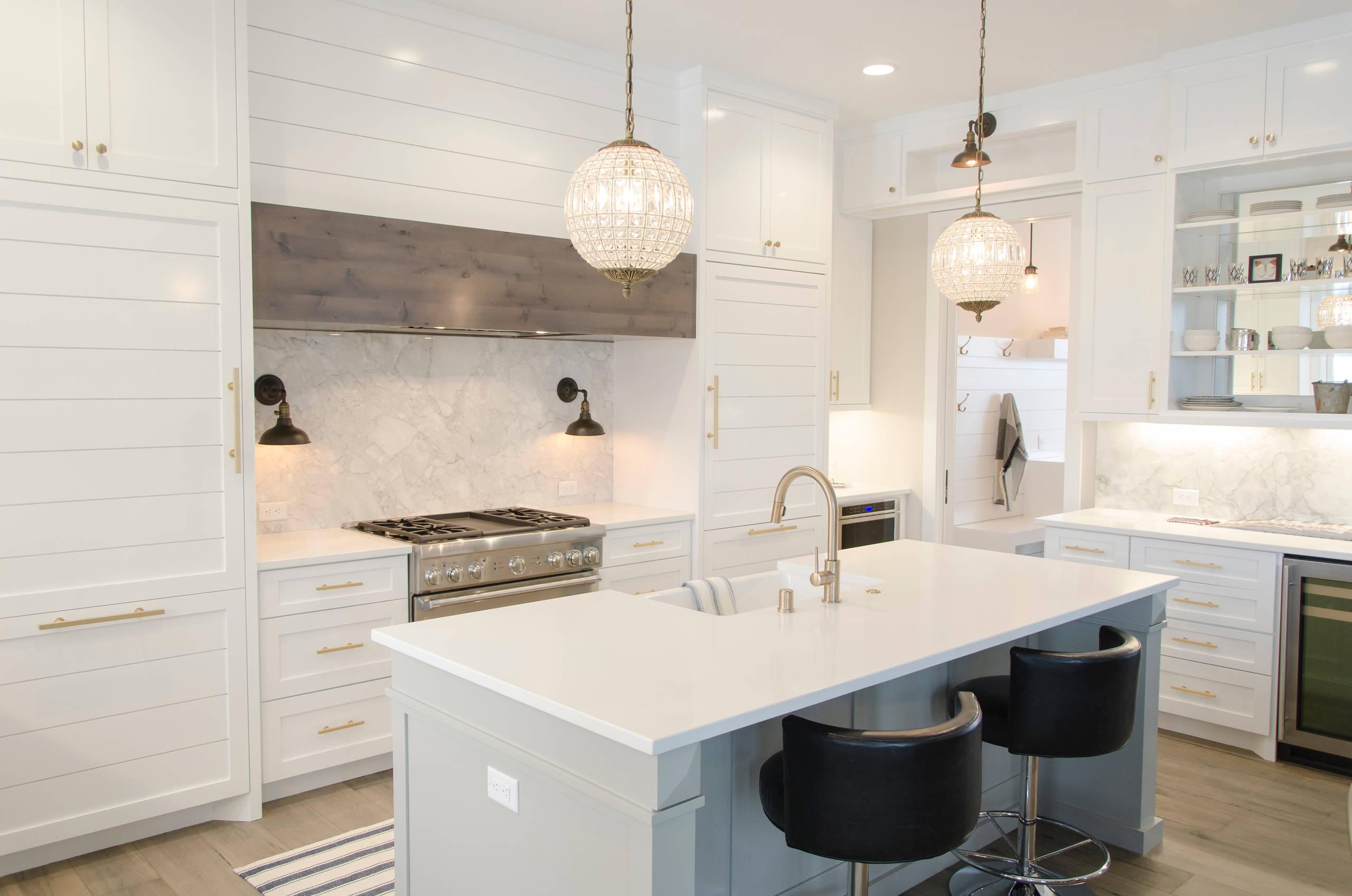 Cabinet Refacing,White shaker style,Custom island
