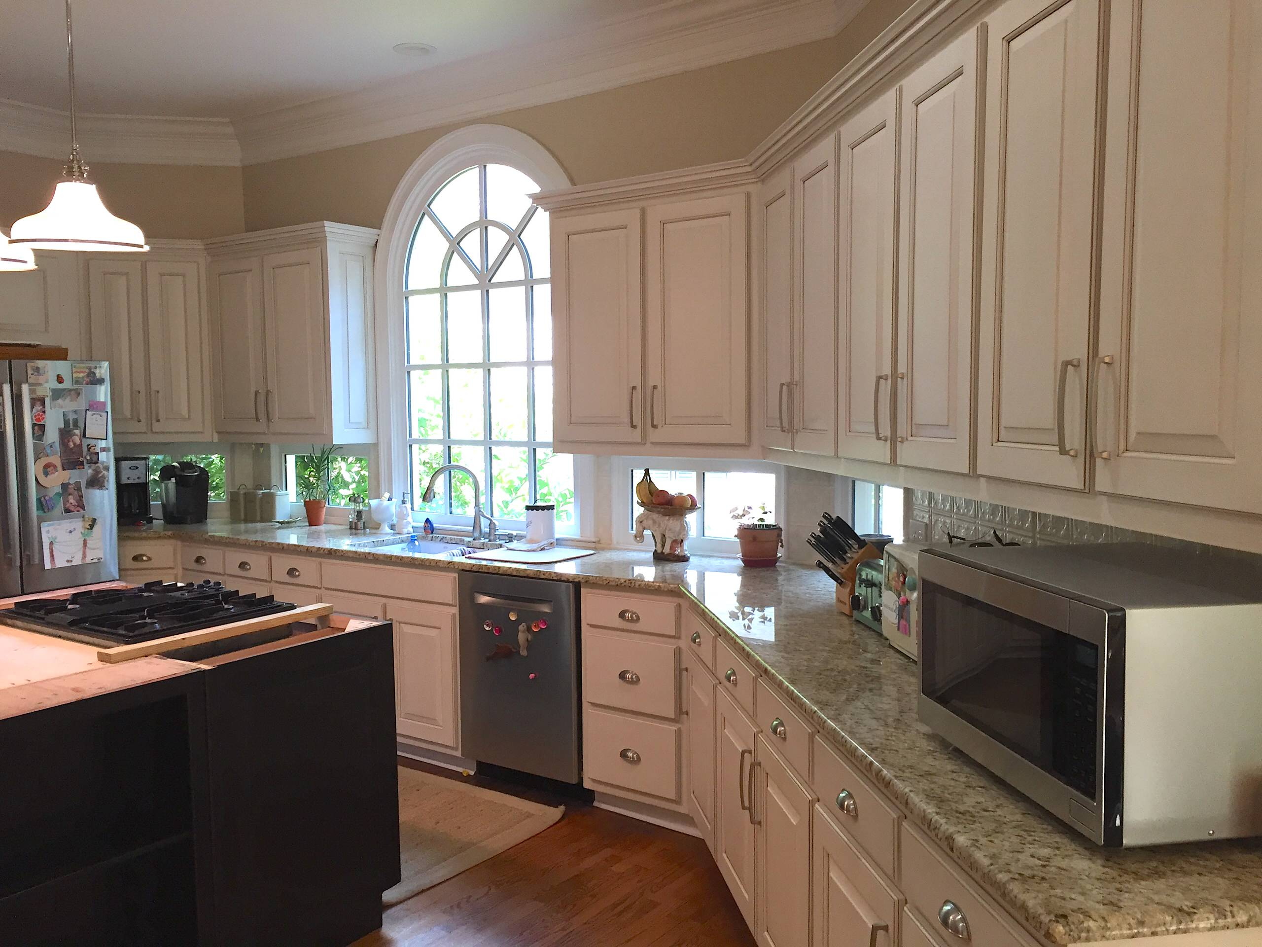 Cabinet Refacing,White with lite glaze