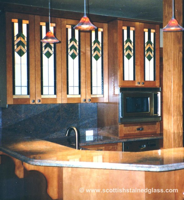 stained glass for kitchen cabinets cabinet stained glass traditional kitchen denver 8220