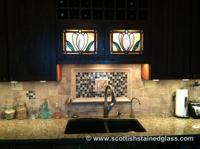 Cabinet Stained Glass traditional-kitchen
