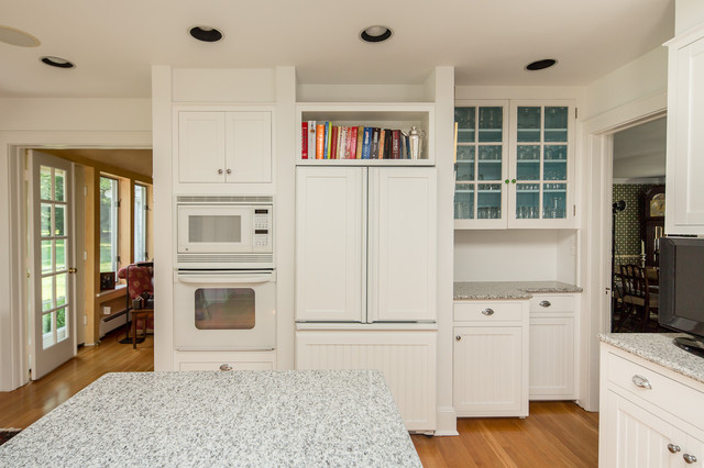 Cabinet Transformation to White traditional kitchen