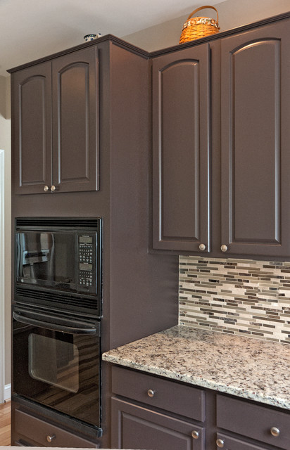 Cabinets Refurbished Painted Traditional Kitchen Other Metro