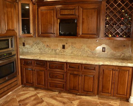 Southwestern granite countertop kitchen design ideas for Southwestern kitchen ideas