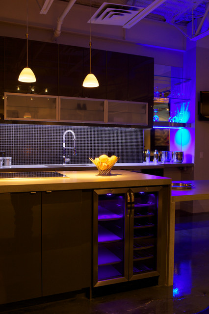 Cabral Condo Contemporary Kitchen Calgary By Woolrich Group Design And Construction