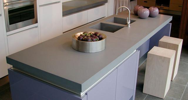 Caesarstone 4004 Raw Concrete quartz Contemporary  : contemporary kitchen from www.houzz.com.au size 640 x 342 jpeg 55kB