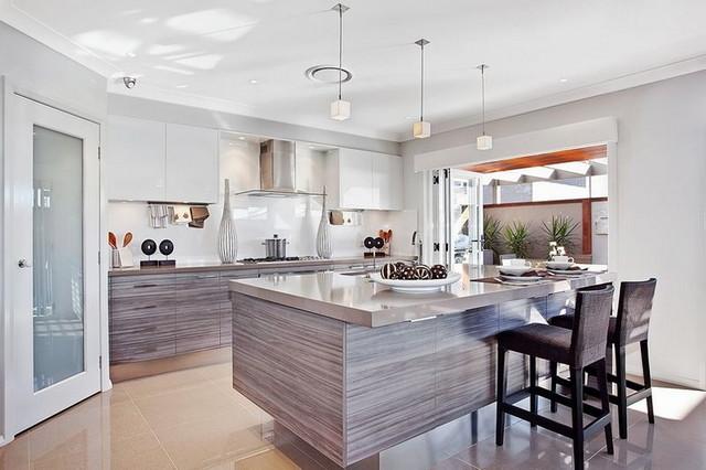 Caesarstone 4330 ginger contemporary kitchen london for Mcdonald jones kitchen designs