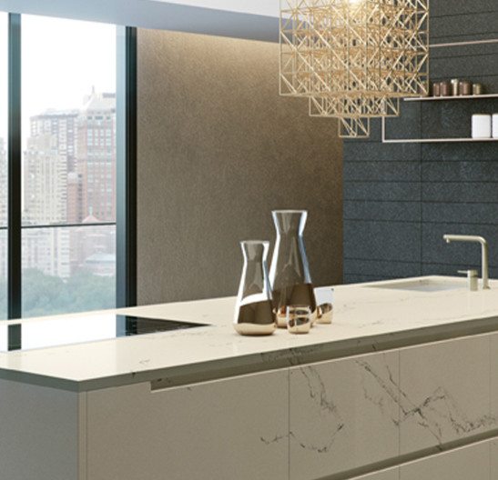 Caesarstone 5111 Statuario Nuvo Contemporary Kitchen