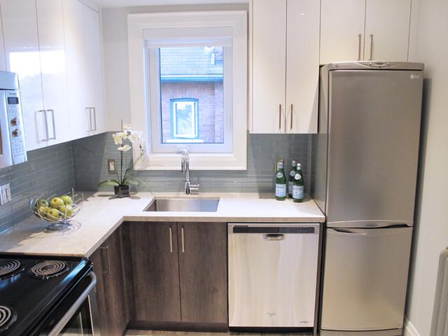 Caesarstone Bianco Drift Contemporary Kitchen