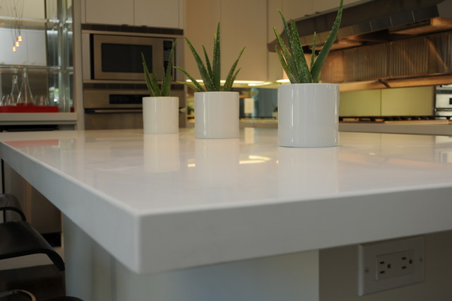 Caesarstone Blizzard Contemporary Kitchen Dallas By - Caesarstone blizzard countertop