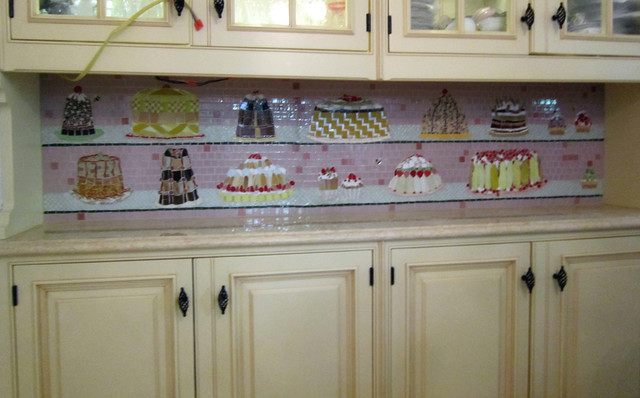Cakes Mosaic - Eclectic - Kitchen - Boston - by BIG BANG MOSAICS
