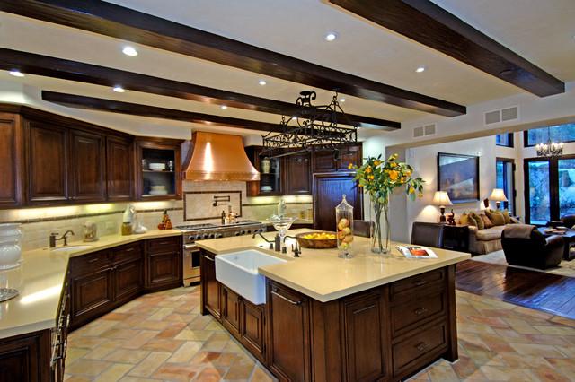 Calabasas Estate rustic-kitchen