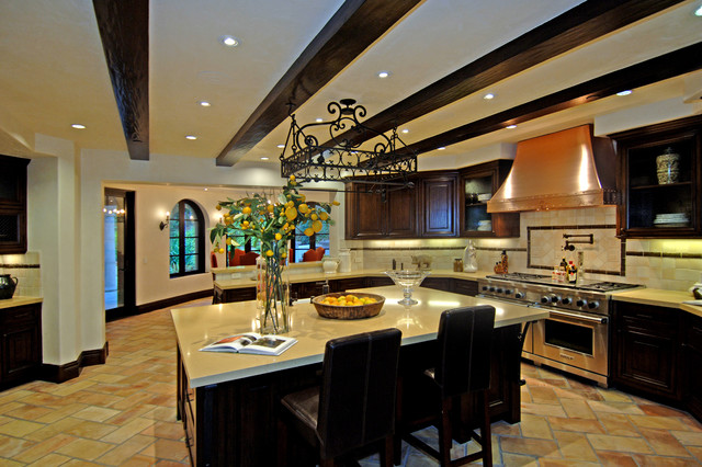 Calabasas Estate mediterranean kitchen